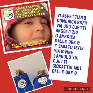 Evento di beneficenza del 2 Dicembre a Talenti Roma
