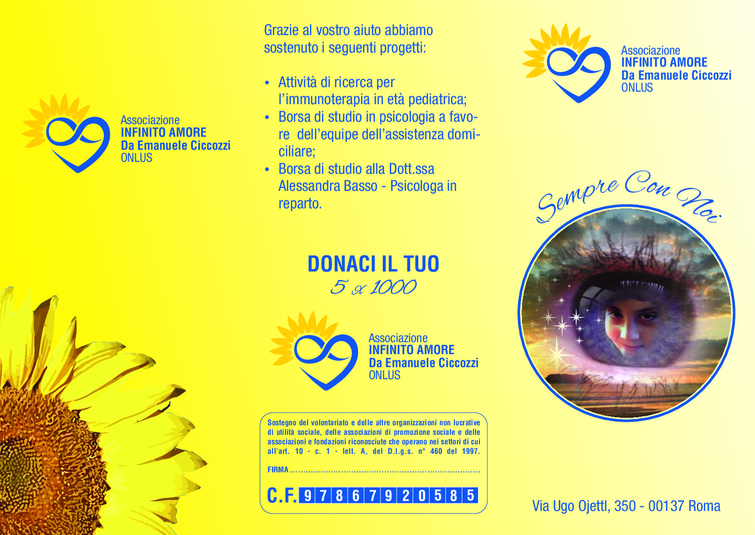 Flyer InfinitoAmore.org
