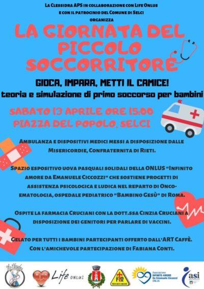Giornata piccolo soccorritore 13 Aprile a Selci